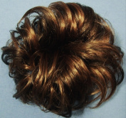 LACEY 7.6cm Pony Fastener Hair Scrunchie 8-27 Chestnut Brown-Strawberry