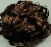 LACEY 7.6cm Pony Fastener Hair Scrunchie by Mona Lisa 8 Chestnut Brown