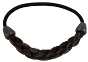 kathy Store INC 1pc Deep Brown Faux Wig Hair Elastic Rope Ring Hairband Hair Band Ponytail Holder -B