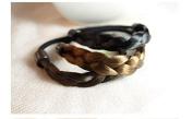 kathy Store INC 3pcs Faux Wig Hair Elastic Rope Ring Hairband Hair Band Ponytail Holder -A