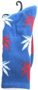 Weed Socks Marijuana Design Blue
