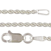 Sterling Silver Rope Chain -41cm