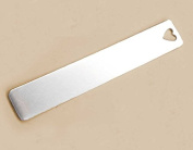 FIVE (5) Aluminium BOOKMARKS with Heart Shaped Cutout - 2.5cm x 15cm - RAW - 16 Gauge - 1100 Aluminium Blanks - Stamping Supplies