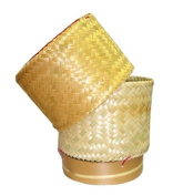 Thai Lao Food Cooking Sticky Rice Bamboo Basket Safety For Health Size 7.6cm 1 pcs