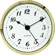 Clock Fitup 3-1/2 Arabic Numerals on White Dial - 10 Pack