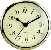 Clock Fitup 7.6cm - 1.3cm Arabic Numerals on Ivory Dial - 1 Pack