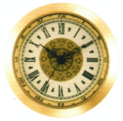 2.5cm - 1.1cm Clock Fitup Ivory Fancy Roman - 3 Pack