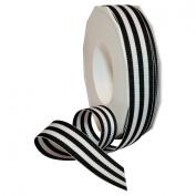 Morex Ribbon Grosgrain Stripes Ribbon, 2.2cm by 20 yd., Black