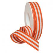 Morex Ribbon Grosgrain Stripes Ribbon, 2.2cm by 20 yd., Orange