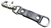 American Bench Craft Riveted Leather Key Fob Black