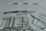 FortySevenGems 100 Pieces Stained Glass Mosaic Tiles 1.3cm Clear Glass
