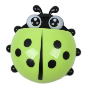 boutique1583 Lady Beetle Plastic Suction Cups Toothbrush Rack Bathroom Holders