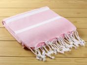 Turkish Towel Pestemal Hand Loomed Pestemal Bath Towel Hammam Pink