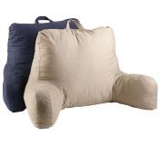 Twill Khaki Bedrest Reading Arm Pillow Beige Back Support Bed Rest