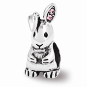 Reflection Beads Sterling Silver. Bunny Bead