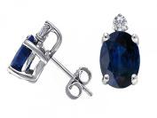 Tommaso Design Genuine Sapphire and diamond Earrings