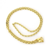 """14k Yellow Solid Gold 3.1 mm thick Cable Link Chain - 18"""" 20"""" 22"""" 24"""""""