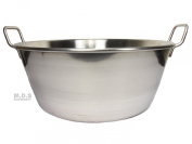 Cazo Stainless Steel Large 41cm Heavy Duty Caso Para Carnitas Acero Inoxidable- Flat Surface