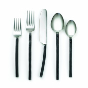 Cambridge Silversmiths 20 Piece Indira Aisha Flatware Set, Black