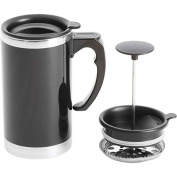 Wyndham House 620ml Stainless Steel Lined, Double-Wall Travel French Press Coffee/Tea Mug