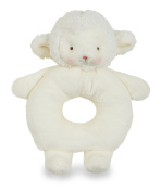 LAMB RING RATTLE KIDDO WHITE