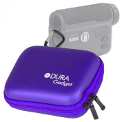 DURAGADGET High Quality Purple Hard EVA Rangefinder Case / Box for Bushnell The Truth (With CLEARSHOT) Laser Rangefinder - with Carabiner Clip & Twin Zips