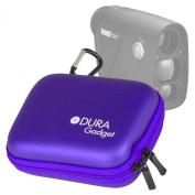 DURAGADGET High Quality Purple Hard EVA Rangefinder Case / Box for Bushnell Sport 850 Laser Rangefinder - with Carabiner Clip & Twin Zips