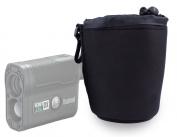 DURAGADGET Jet Black Neoprene Rangefinder Pouch / Case in Size Medium for Bushnell Scout DX 1000 ARC Laser Rangefinder - With Handy Belt Clip For Hands-Free, Easy Access