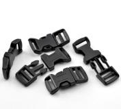 50 Sets Black (for 550 Para Cord Survival Bracelet) Plastic Buckle (4.4cm x 2.2cm ), Jewellery Findings