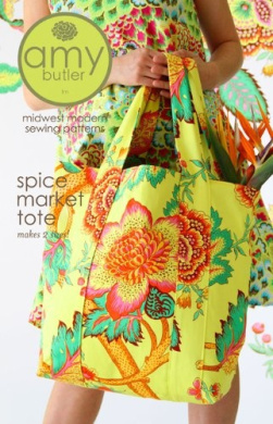 Amy Butler Spice Market Tote Bag Sewing Pattern