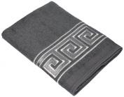 Avanti Greek Key Hand Towel, Granite