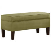 Orchard Street Upholstered Storage Bench by Skyline Furniture in Sage Micro-suede