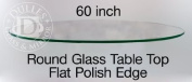 150cm Round Glass Table Top, 1.3cm Thick, Flat Polish Edge