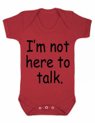 I'm not here to talk Funny Baby Playsuit / Bodysuit
