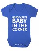 Purple Penguin Clothing Baby Grow - Nobody puts Baby in the Corner