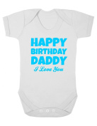 Purple Penguin Clothing Baby Grow - Happy Birthday Daddy