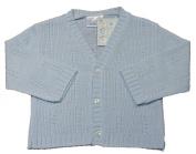 Baby boys V neck knitted cardigan BLUE