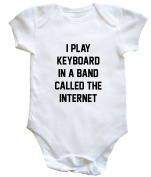 HippoWarehouse I PLAY KEYBOARD IN A BAND CALLED THE INTERNET baby vest boys girls