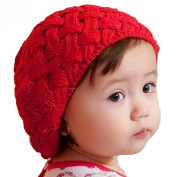 LOCOMO Baby Infant Boy Girl Knit Beanie Crochet Rib Pom Pom Hat Cap Warm FBA002
