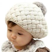 LOCOMO Baby Infant Boy Girl Knit Beanie Crochet Rib Pom Pom Hat Cap Warm FBA002