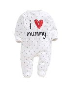 CHIC*MALL baby rompers 2015 Newborn I love mummy & daddy Baby Costume Girls Jumpsuit clothing Winter Romper Body BABY CLOTHES