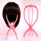 New Pink Durable Plastic Foldable Stable Hair Wig Cap Hat Stand Holder Display Tool