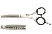 Blizzard Classic Thinning Scissor - Professional 14cm Barber Hair Texturising Salon Shear With Cushioned Finger Rings - Packed In Leather Sleeve