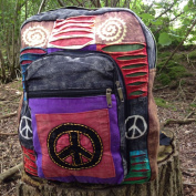 INDIE BOHO HIPPY BACKPACK BAG HIPPIE BEACH PEACE SHOULDER FESTIVAL RUCKSACK RETRO 60'S