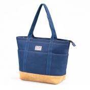 HotStyle AMY Large Canvas Zip Boat Everyday Shopping Travel School Bookbag Handbag Shoulder Tote Bag Built-in Laptop Sleeve Fits 30cm Tablet