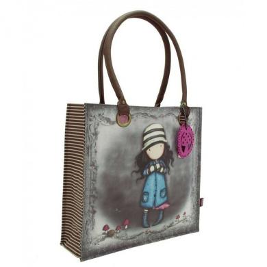 Santoro Gorjuss Large Coated Shopper Bag - Toadstools