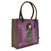 Santoro Gorjuss Large Coated Shopper Bag - Pulling On Your Heart Strings