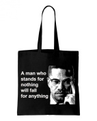 Malcolm X Man Quote Cotton Shoulder Shopping Bag