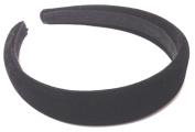 Allsorts® Black Padded 2.5cm Velvet Aliceband Headband Ladies Girls Hair Bands