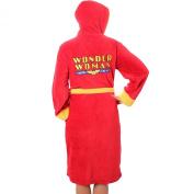 Wonder Woman Women's Bathrobe - Dressing Gown Red One Size